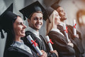 Graduates in university Royalty Free Stock Photo