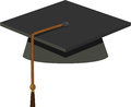Graduation cap black mortarboard illustration of Royalty Free Stock Photos