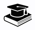 Graduation cap and book icon Royalty Free Stock Photo