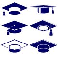Graduation cap icon  set Royalty Free Stock Photo