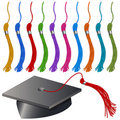 Graduation Cap and Tassel Set Stock Photos