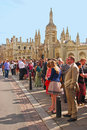 Graduation day at king s college cambridge in summer Royalty Free Stock Images