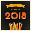 2018 graduation design with light bulb sign numbers