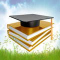 Graduation, education and knowledge icon Royalty Free Stock Images