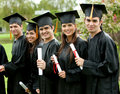 Graduation group Stock Photography