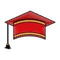 Graduation hat isolated icon