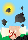 Graduation illustration Stock Photos