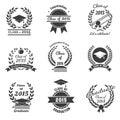 Graduation labels. High School and congratulations