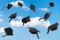 Graduation Mortar Boards Royalty Free Stock Photo