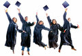 Graduation people jumping Royalty Free Stock Photo