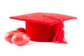 Graduation red hat Stock Image