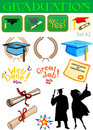 Graduation related illustrations Stock Photography