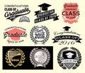 Graduation sector set Class of 2016 Congrats grad Congratulations Graduate