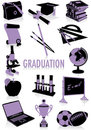 Graduation silhouettes Stock Photos