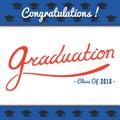 Graduation Vector template Party, Congrats, Celebrate, High School.College Set.Celebration of finishing . Minimal