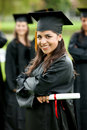 Graduation woman portrait Stock Photo