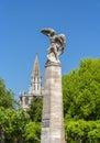 Graf zeppelin statue in konstanz germany Stock Photography
