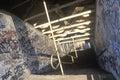Graffiti on abandoned building hallways holyoke massachusetts Royalty Free Stock Photos