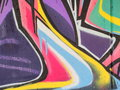 Graffiti abstract close up of some colorful Royalty Free Stock Photography