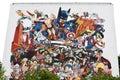Graffiti in angouleme city, capital of comic strip