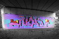 Graffiti art subway landscape image Royalty Free Stock Image