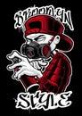 Graffiti artist illustration. Royalty Free Stock Photo