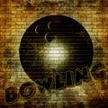 Graffiti bowling ball Royalty Free Stock Photo