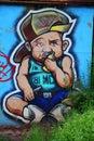 Graffiti boy rapper Royalty Free Stock Photo