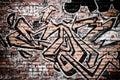Graffiti on a brick wall Royalty Free Stock Photo