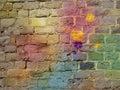 The graffiti brick wall Royalty Free Stock Photo