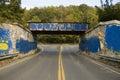 Graffiti bridge Royalty Free Stock Photo