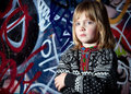 Graffiti child cool street art Royalty Free Stock Photo