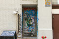 Graffiti Covered Door Royalty Free Stock Photography