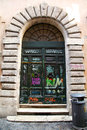 Graffiti doors in rome art on street Stock Images