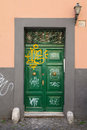 Graffiti doors in rome art on street Royalty Free Stock Photos