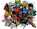 Graffiti elements Royalty Free Stock Photo