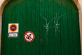 Graffiti on a gate in Santanyi, Mallorca Royalty Free Stock Photo