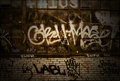 Graffiti Grunge Brick Wall Background Texture Royalty Free Stock Photo