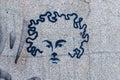 Graffiti Head Royalty Free Stock Photo