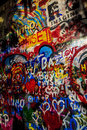 Graffiti on Lennon Wall Royalty Free Stock Photo