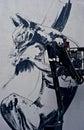 Graffiti man painting a Royalty Free Stock Photos