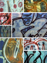 Graffiti Montage Royalty Free Stock Photos