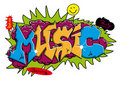 Graffiti Music Royalty Free Stock Images
