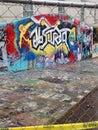 Graffiti originals beautiful on campus Royalty Free Stock Photo