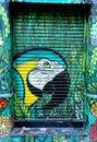 Graffiti of a parrot Royalty Free Stock Photo