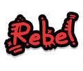 Graffiti rebel sticker Stock Photo