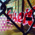 Graffiti remix brighton circus street Royalty Free Stock Photos