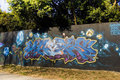Graffiti - Ske, Smash137, T-Kid, Ske, Lazoo, Kine Royalty Free Stock Photo