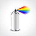 Graffiti spray can vector illustration photo realistic Stock Photo