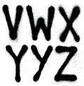 Graffiti spray paint font type part alphabet detailed Royalty Free Stock Photos